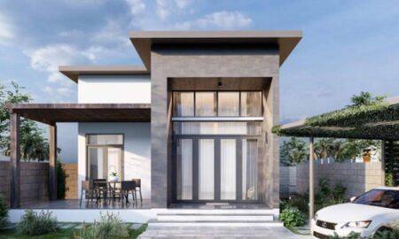 Tham quan mẫu thiết kế biệt thự nhà vườn 1 tầng tại Long An có hồ bơi tuyệt đẹp