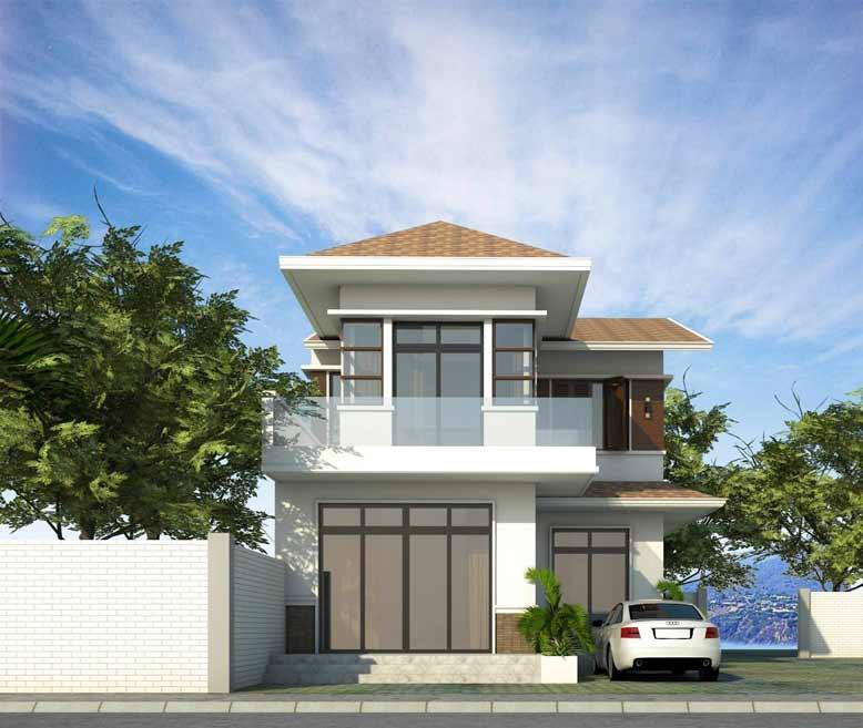 Thiết kế nhà phố với mái ngói cam đất ấn tượng