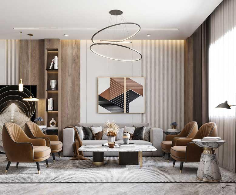 Mẫu thiết kế nội thất chung cư sử dụng các chất liệu hiện đại hiện nay