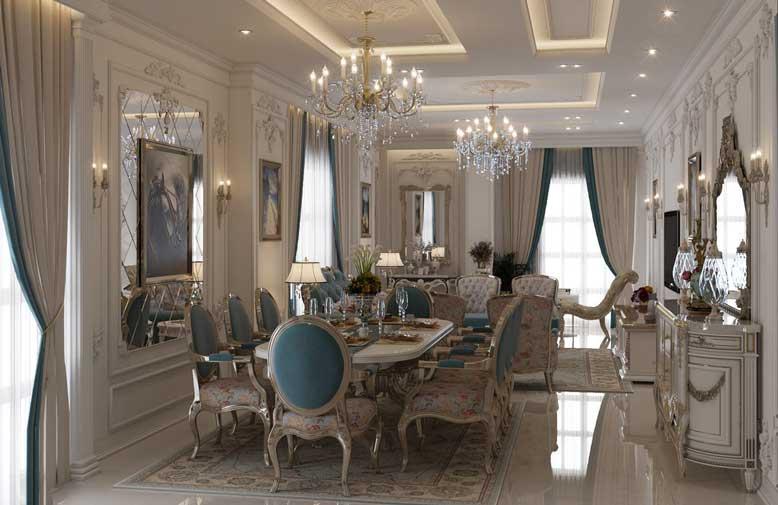 Thiết kế nội thất chung cư cho phòng bếp cổ điển