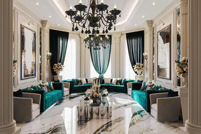 Thiết kế nội thất chung cư với phòng khách sang trọng, đẳng cấp