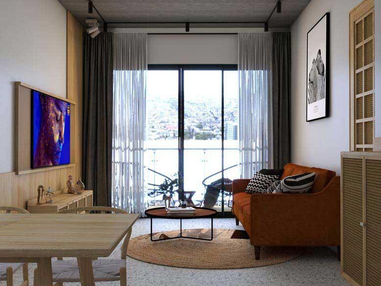 Thiết kế nội thất căn hộ chung cư phong cách Mid Century Modern