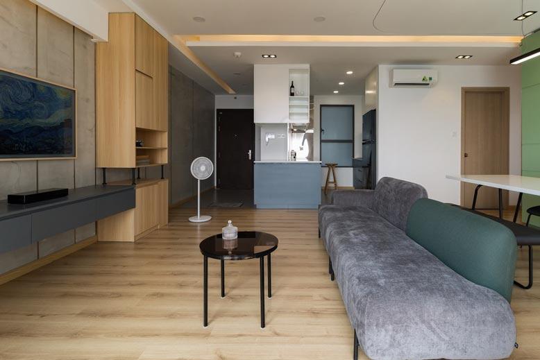 Chỉ sử dụng đồ nội thất cơ bản trong thiết kế nội thất căn hộ chung cư tối giản