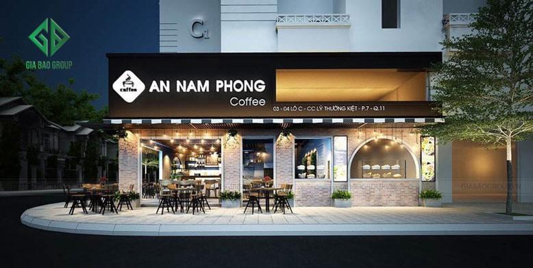 Thiết kế quán cafe Nam Phong phong cách châu Âu tinh tế