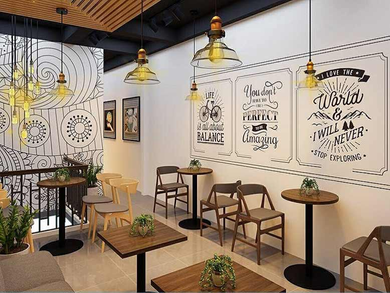 Một thiết kế quán cafe đẹp không thể bỏ qua những món đồ trang trí bắt mắt
