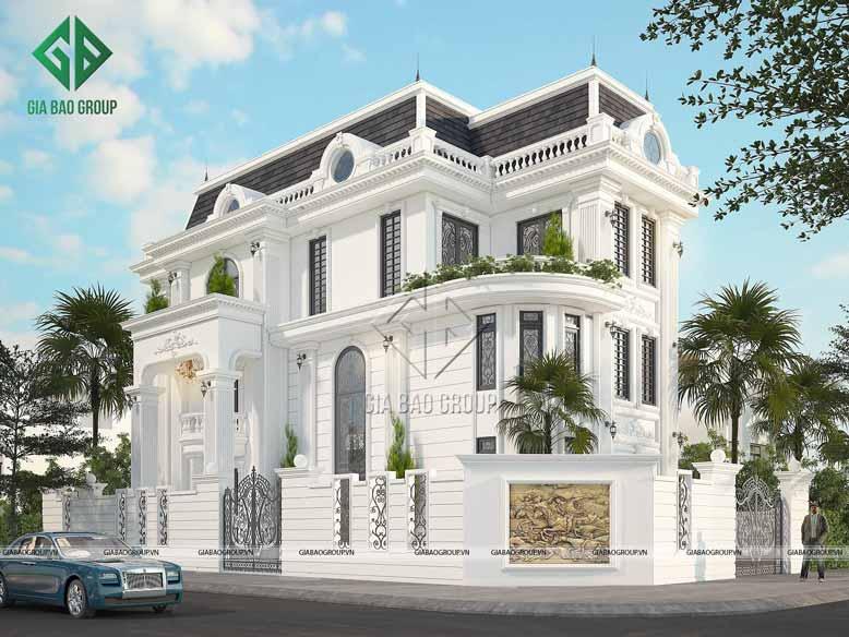 Mẫu thiết kế biệt thự tân cổ điển 3 tầng đến từ Gia Bảo Group