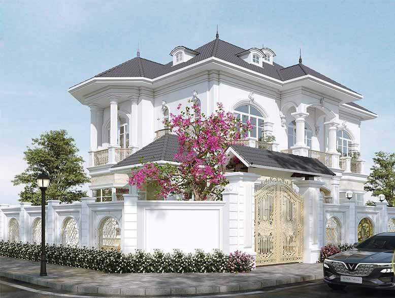 Tham khảo cách thiết kế biệt thự tân cổ điển với vẻ đẹp hài hòa