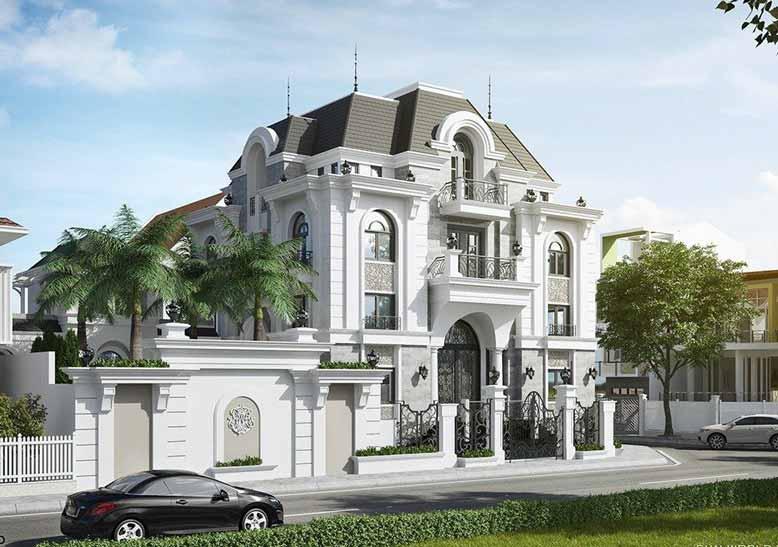 Biệt thự tân cổ điển Pháp 4 tầng