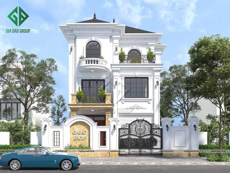 Dự án thiết kế biệt thự tân cổ điển mang vẻ đẹp thanh lịch
