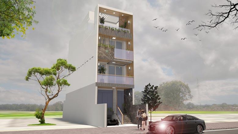 Tổng quan dự án mẫu nhà phố 4 tầng tại Bình Chánh