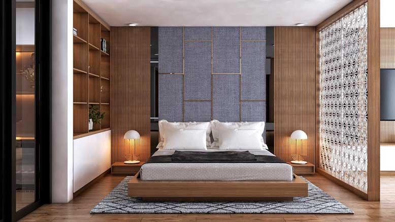 phòng ngủ được thiết kế và thi công nội thất một cách tối giản