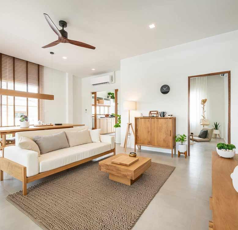 Gợi ý thiết kế nội thất nhà ở với gam màu ấm áp và nhẹ nhàng
