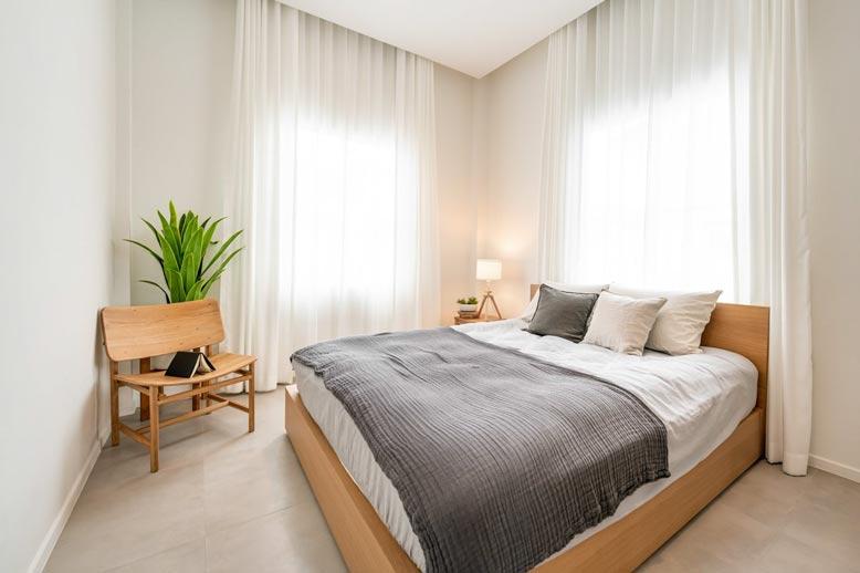 Không gian phòng ngủ được thiết kế vô cùng tinh tế