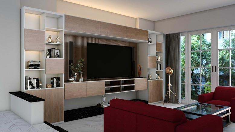 Thiết kế và thi công nội thất phòng khách với nét đẹp tinh tế