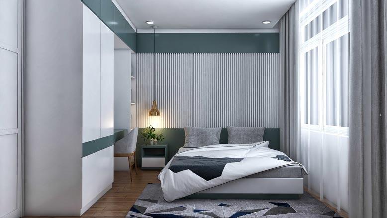 Trang trí phòng ngủ đơn giản nhưng đầy đủ tiện nghi