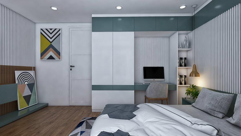 Một góc khác trong không gian phòng ngủ