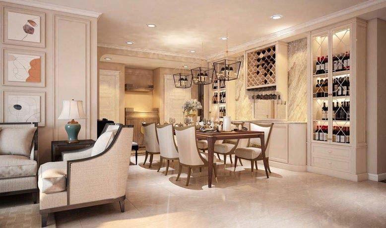 Một không gian trong căn hộ được thiết kế làm nơi thư giãn cho gia đình