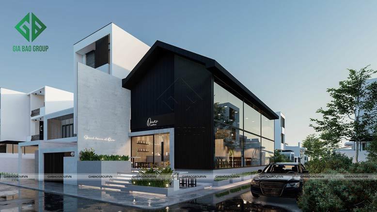 Tổng quan toàn bộ công trình thiết kế và thi công quán cafe Ours Coffee