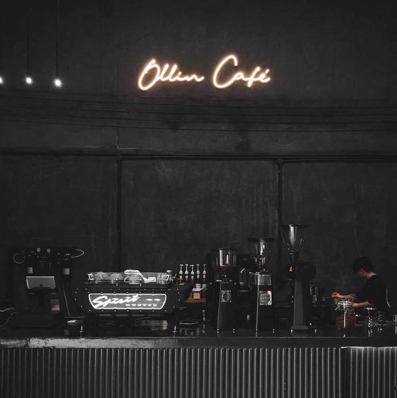 Thi công nội thất cho khu vực pha chế của quán Ollin Cafe