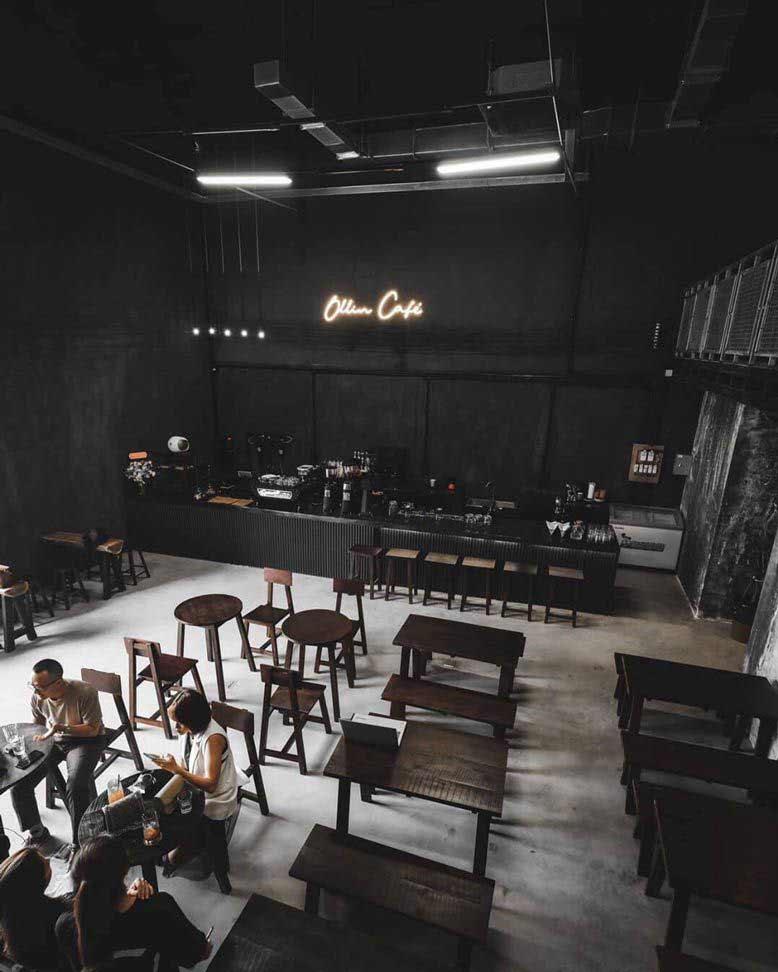 Một góc nhìn khác của dự án thi công nội thất và ngoại thất quán cafe