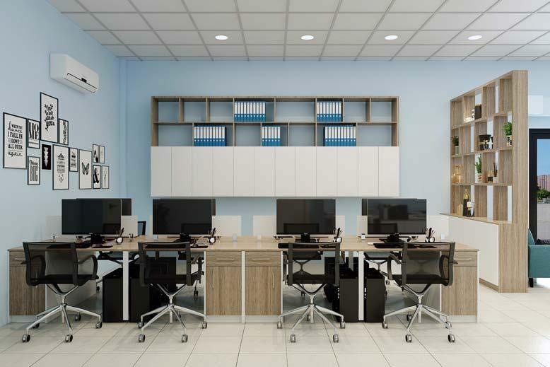 Hình ảnh văn phòng sau khi được tân trang lại