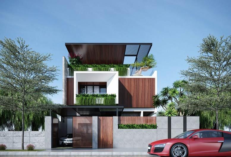 Mẫu biệt thự đẹp 3 tầng với lối kiến trúc độc đáo