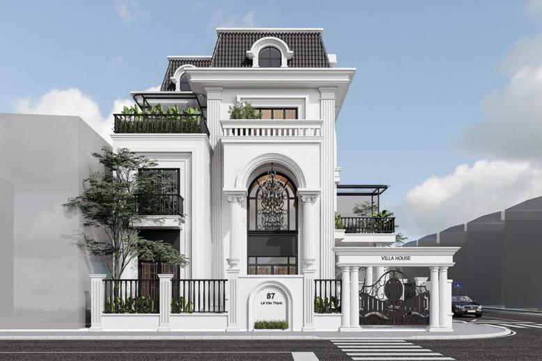 Mẫu biệt thự đẹp 3 tầng tân cổ điển làm siêu lòng nhiều chủ đầu tư