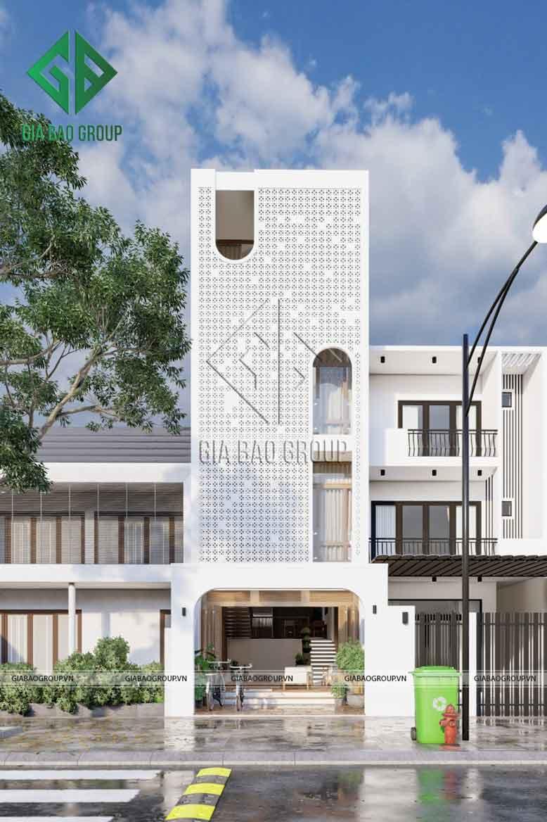 Thiết kế nhà phố đẹp 4 tầng
