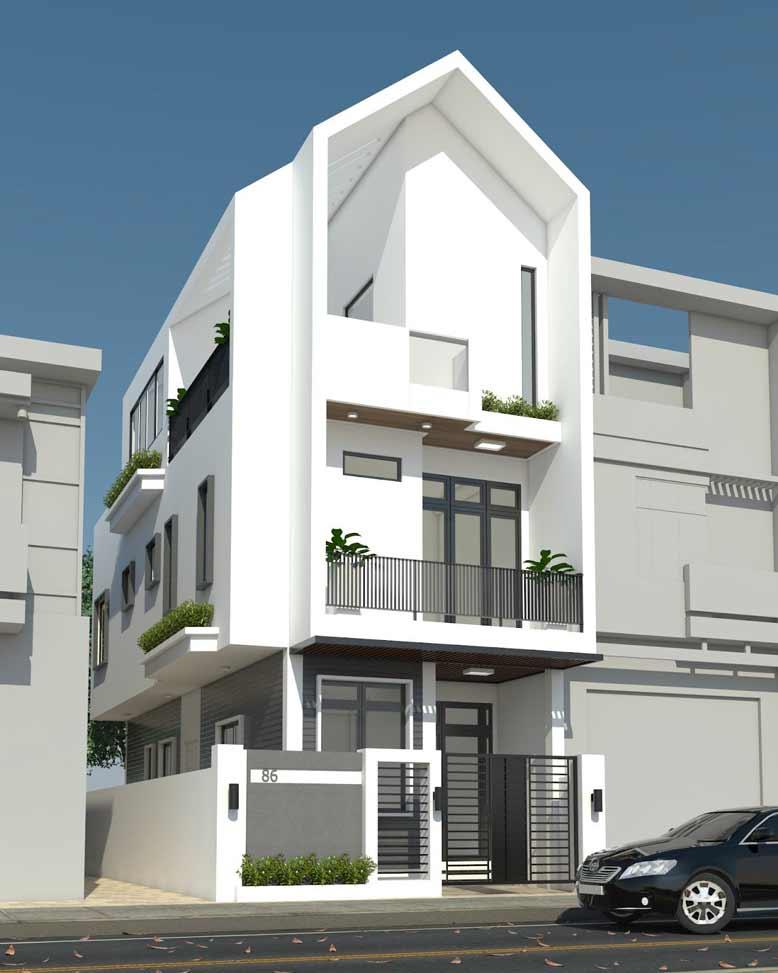 Mẫu thiết kế nhà đẹp với phong cách hiện đại