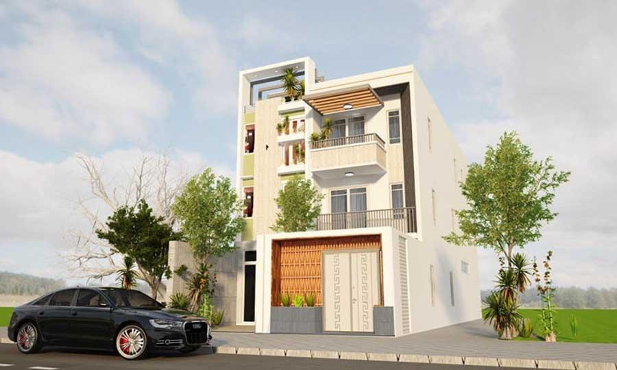Tham khảo mẫu thiết kế nhà phố 3 tầng 1 tum với nét đẹp khỏe khoắn