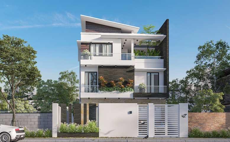 Thiết kế nhà với diện tích rộng mang hơi thở của nét đẹp hiện đại