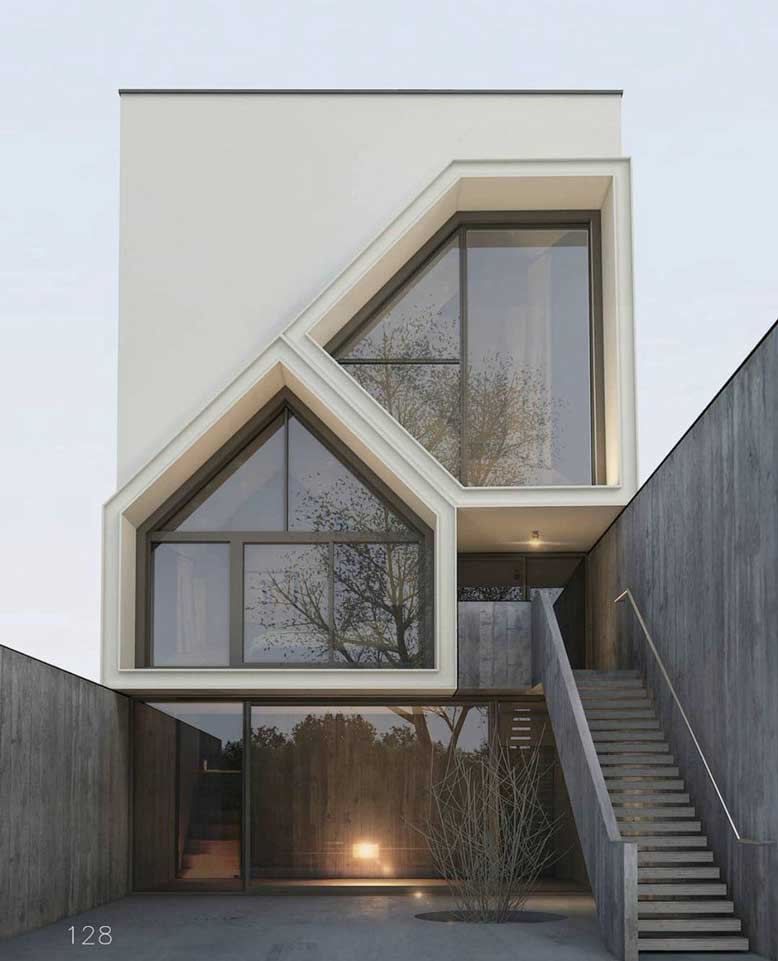 Thiết kế nhà đẹp với kiến trúc bắt mắt
