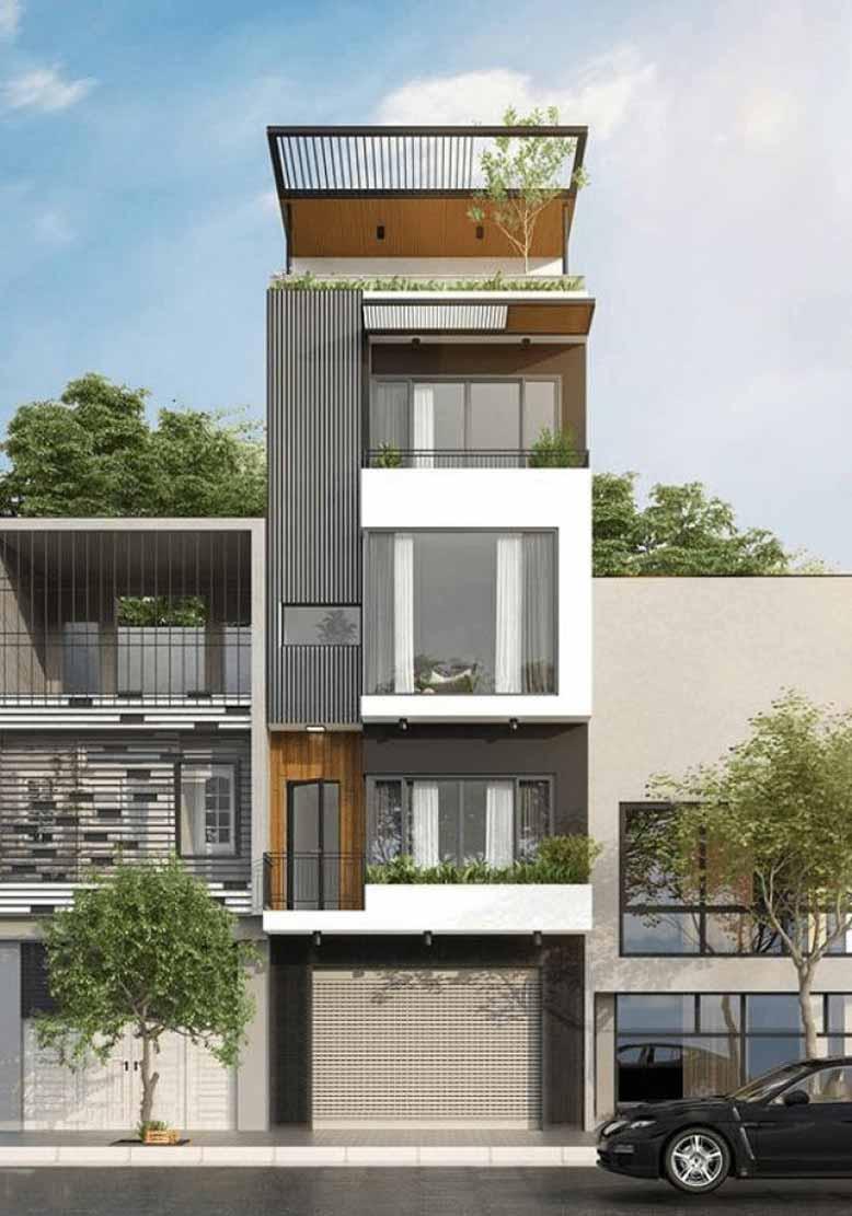 Cách thiết kế nhà phố với 4 tầng đẹp và thu hút mọi ánh nhìn