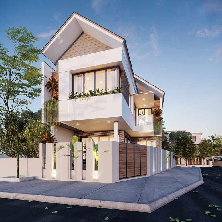 Tham khảo thêm mẫu thiết kế nhà phố 2 mặt tiền