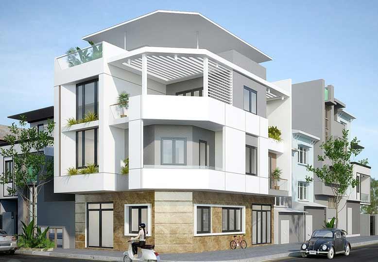 Nhìn ngắm cách thiết kế nhà phố 2 mặt tiền nổi bật