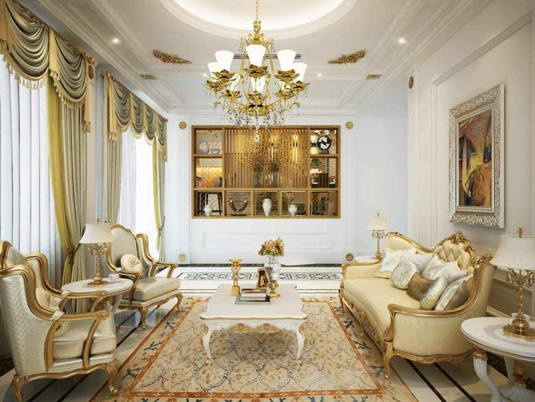 Những chi tiết uốn lượn là yếu tố không thể thiếu trong thiết kế nội thất căn hộ chung cư cổ điển
