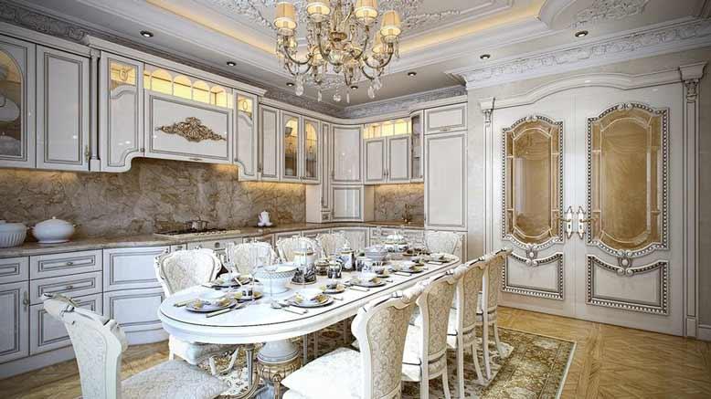 Ấn tượng với căn bếp mang nét đẹp hoàng gia cổ điển