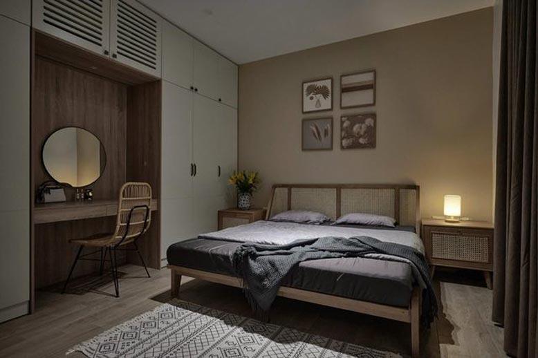 Màu sắc trung tính hài hòa cho thiết kế nội thất căn hộ chung cư phong cách Nhật Bản