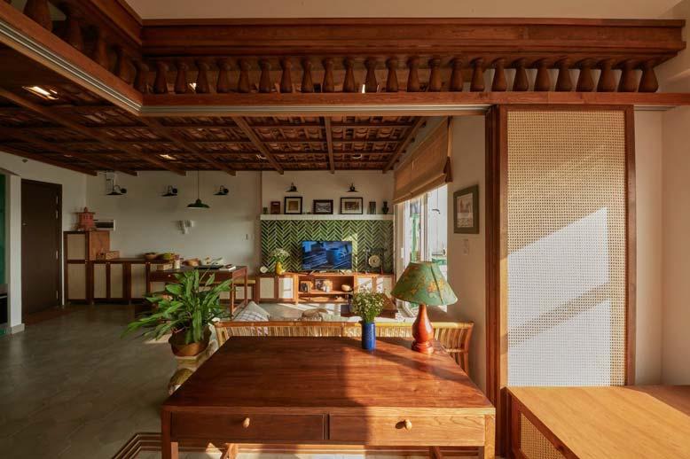 Căn hộ chung cư được thiết kế với phần mái theo âm dương độc đáo
