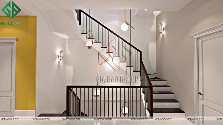 Thiết kế cầu thang tầng 2