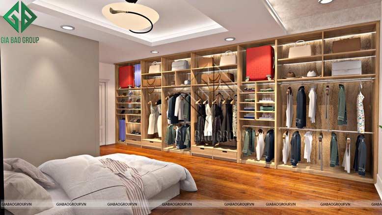 Thiết kế tủ quần áo đầy sang trọng