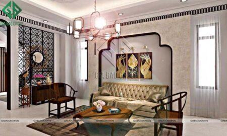Mê mẩn với mẫu thiết kế nội thất nhà phố phong cách Á Đông hiện đại