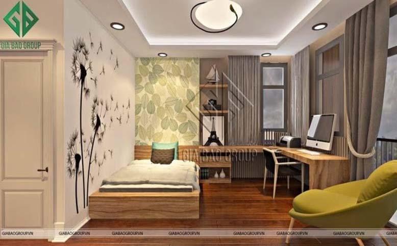 Phòng ngủ trong thiết kế nội thất phong cách Á Đông hiện đại