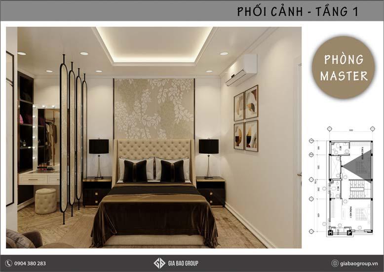 Giường ngủ trong thiết kế nội thất phong cách Đông Dương