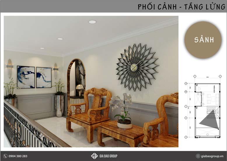 Thiết kế nội thất phong cách Đông Dương tại nhà anh Thịnh