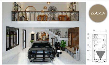 Thiết kế nội thất nhà phố phong cách Đông Dương đẹp hút mắt, anh Thịnh tại Gò Vấp