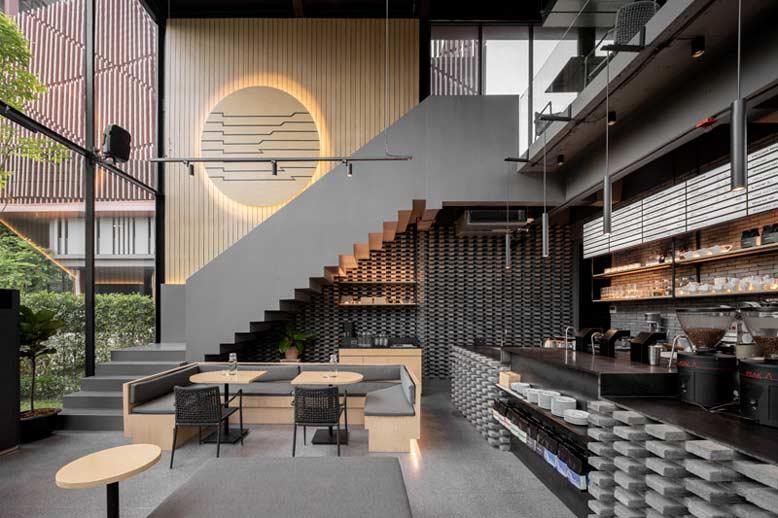 Thiết kế quán cafe theo phong cách hiện đại