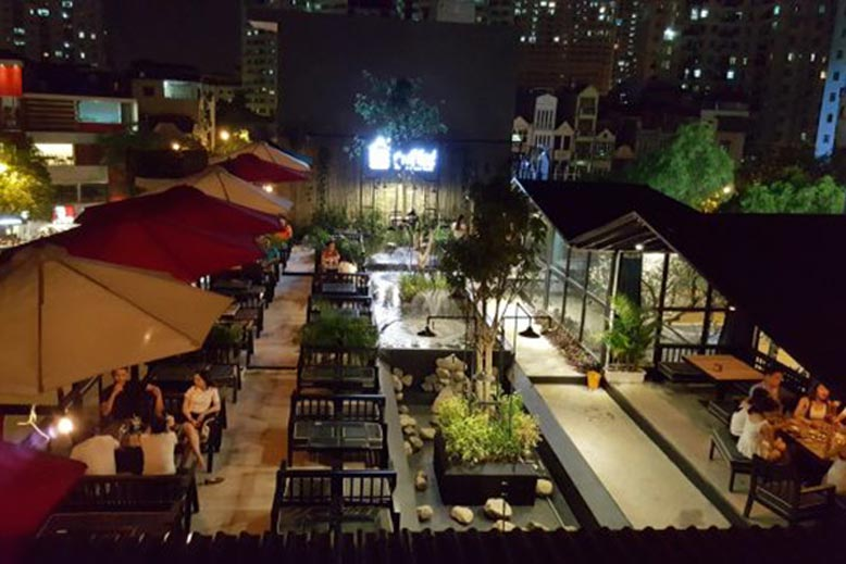 Thiết kế quán cafe sân vườn đẹp