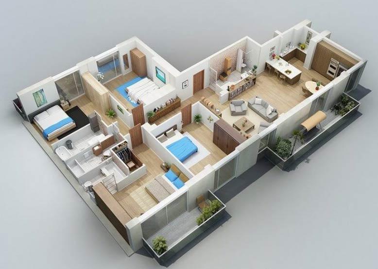 Biệt thự nhà vườn 1 tầng 4 phòng ngủ