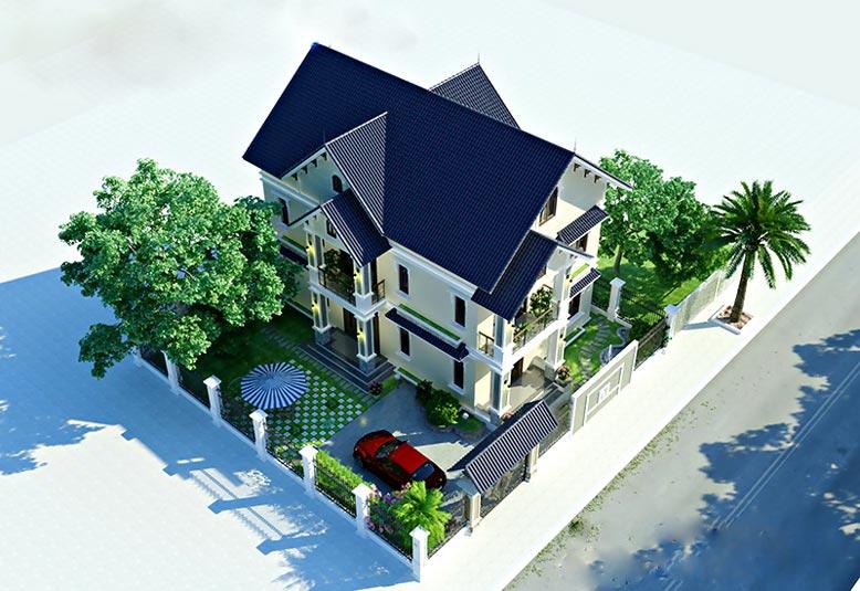 Biệt thự vườn 3 tầng mái thái